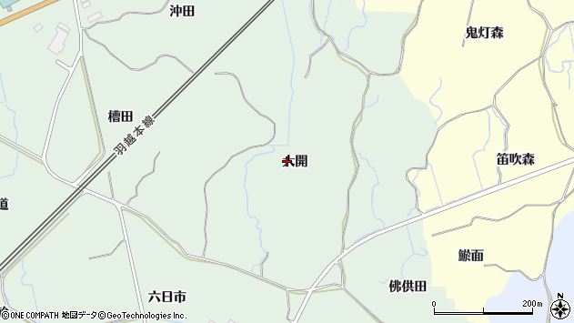 〒018-0403 秋田県にかほ市三森の地図
