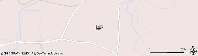 岩手県奥州市江刺梁川(七下)周辺の地図