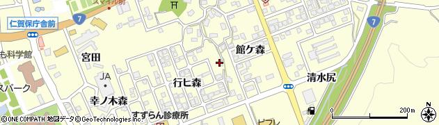秋田県にかほ市平沢行ヒ森8周辺の地図