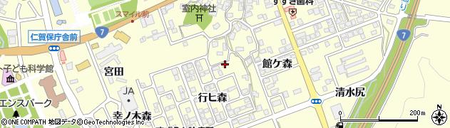 秋田県にかほ市平沢行ヒ森45周辺の地図