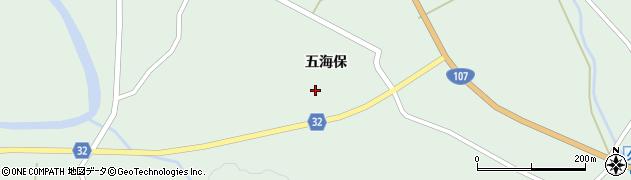 秋田県由利本荘市東由利舘合(五海保)周辺の地図