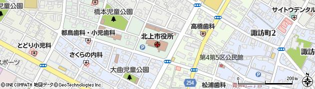 岩手県北上市周辺の地図