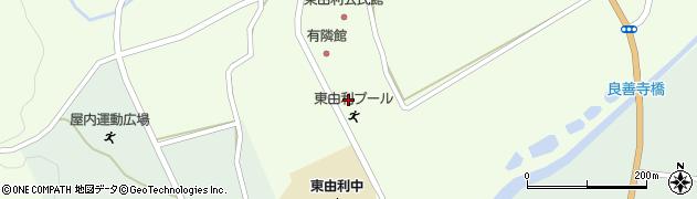 秋田県由利本荘市東由利老方(台山)周辺の地図