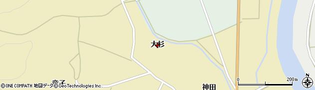 秋田県由利本荘市川西(大杉)周辺の地図