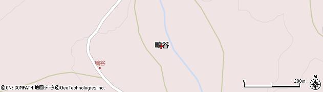 岩手県奥州市江刺梁川(鴫谷)周辺の地図