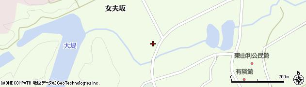 秋田県由利本荘市東由利老方(女夫坂)周辺の地図