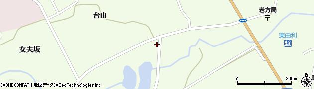 秋田県由利本荘市東由利老方(楢木台)周辺の地図