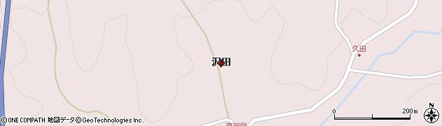 岩手県奥州市江刺梁川(沢田)周辺の地図
