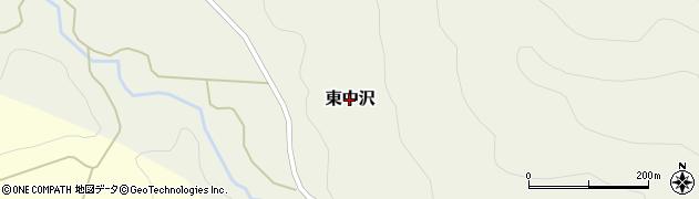 秋田県由利本荘市東中沢周辺の地図