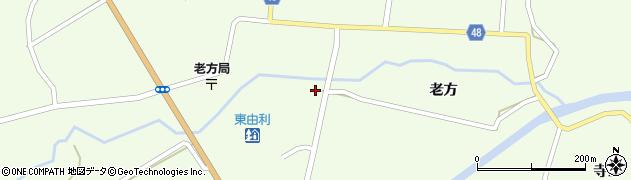 秋田県由利本荘市東由利老方(畑田)周辺の地図