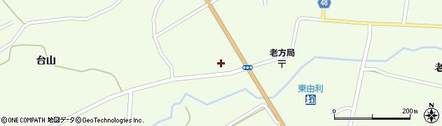 秋田県由利本荘市東由利老方(四ツ眼)周辺の地図