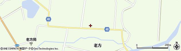 秋田県由利本荘市東由利老方(老方)周辺の地図