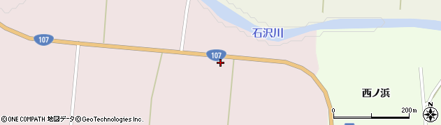 秋田県由利本荘市東由利蔵(上谷地)周辺の地図