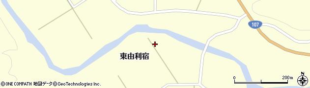 秋田県由利本荘市東由利宿周辺の地図