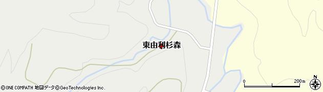 秋田県由利本荘市東由利杉森周辺の地図