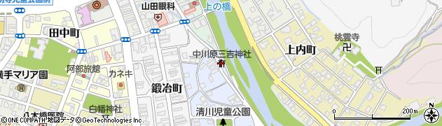 中川原三吉神社周辺の地図