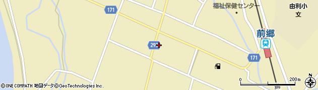 秋田県由利本荘市前郷(前郷)周辺の地図