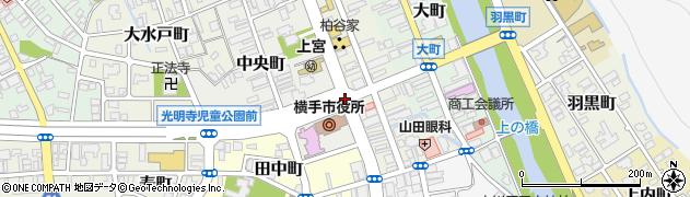 横手地域局前周辺の地図