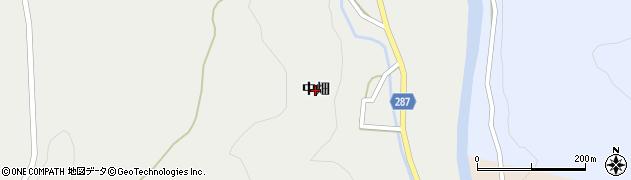 秋田県由利本荘市町村(中畑)周辺の地図