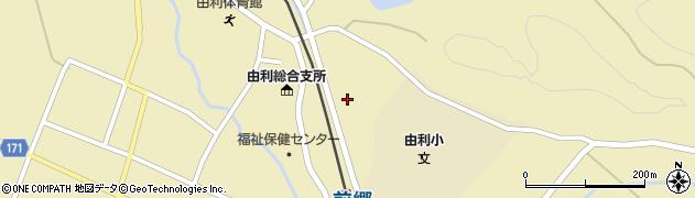 秋田県由利本荘市前郷(金神)周辺の地図