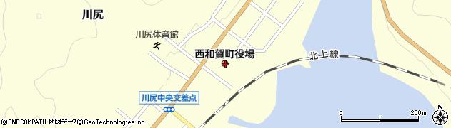 岩手県和賀郡西和賀町周辺の地図
