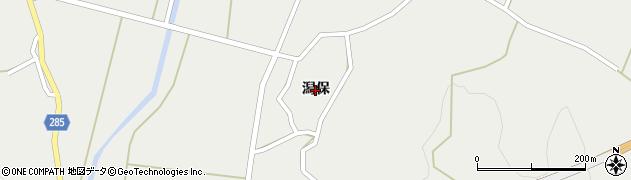 秋田県由利本荘市西目町西目(潟保)周辺の地図