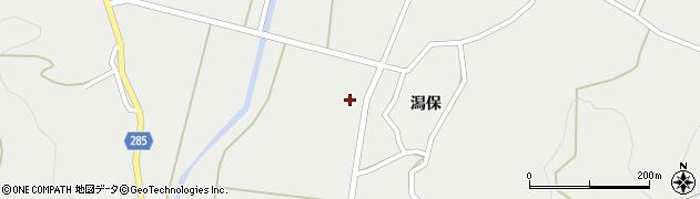 秋田県由利本荘市西目町西目(大森)周辺の地図