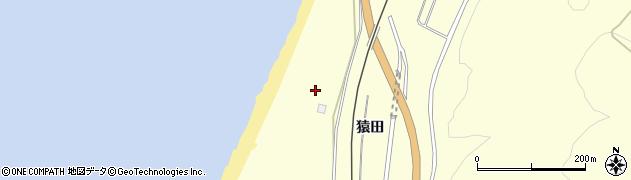 秋田県由利本荘市西目町出戸(猿田)周辺の地図