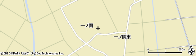 秋田県横手市大雄(一ノ関)周辺の地図