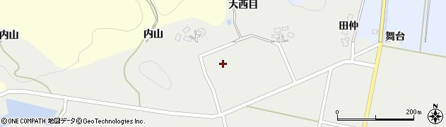秋田県由利本荘市西目町西目(大西目)周辺の地図