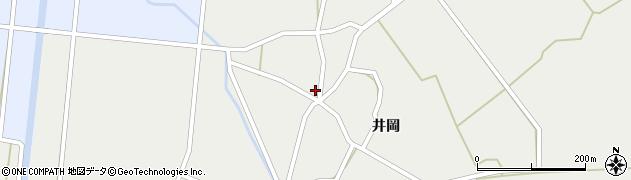 秋田県由利本荘市西目町西目(井岡)周辺の地図