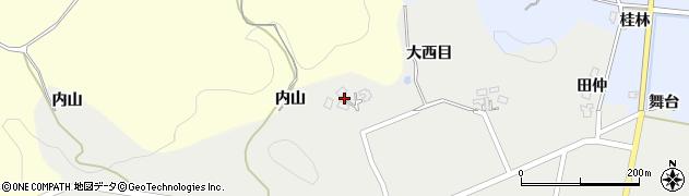 秋田県由利本荘市西目町西目(根子ノ沢)周辺の地図