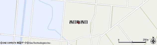 秋田県由利本荘市西目町西目周辺の地図
