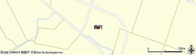 秋田県由利本荘市曲沢周辺の地図