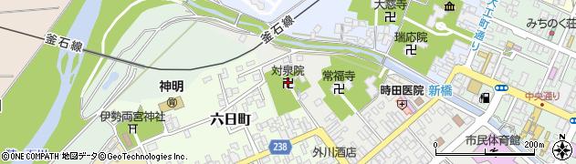 対泉院周辺の地図