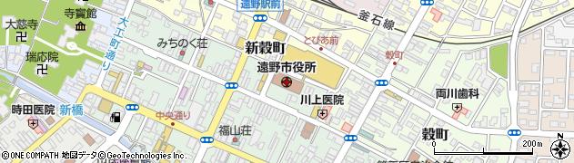 岩手県遠野市周辺の地図