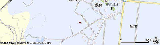 秋田県由利本荘市西目町沼田周辺の地図
