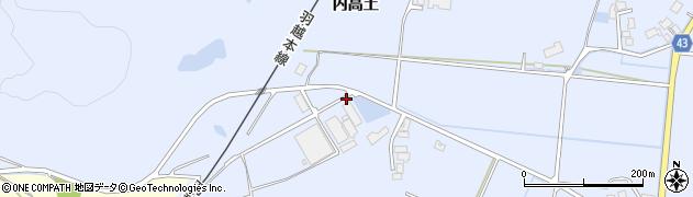 秋田県由利本荘市西目町沼田(沼田)周辺の地図
