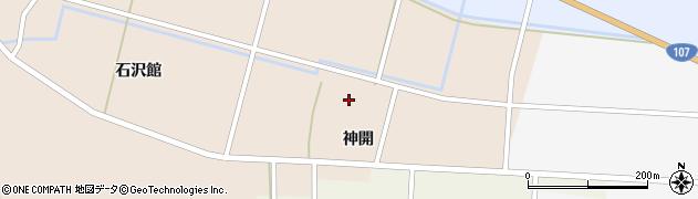 秋田県由利本荘市館(神明腰)周辺の地図