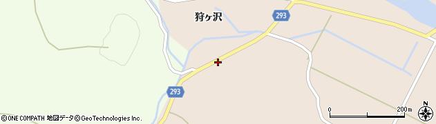 秋田県由利本荘市館(狩ヶ沢)周辺の地図
