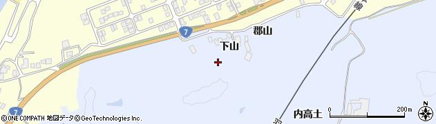 秋田県由利本荘市西目町沼田(下山)周辺の地図