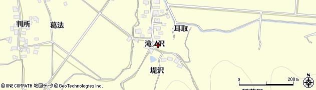 秋田県由利本荘市葛法(滝ノ沢)周辺の地図