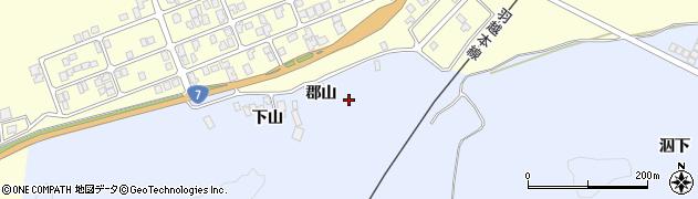 秋田県由利本荘市西目町沼田(郡山)周辺の地図