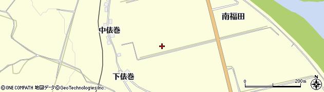 秋田県由利本荘市南福田周辺の地図