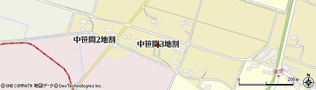 岩手県花巻市中笹間第3地割周辺の地図