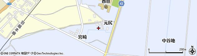 秋田県由利本荘市西目町沼田(宮崎)周辺の地図