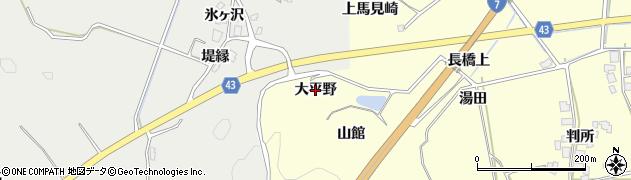秋田県由利本荘市葛法(大平野)周辺の地図
