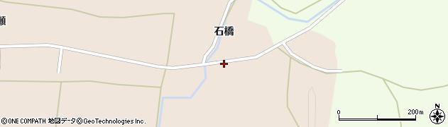 秋田県由利本荘市鮎瀬(石橋)周辺の地図