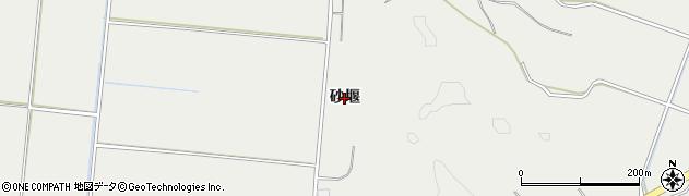 秋田県由利本荘市船岡(砂堰)周辺の地図