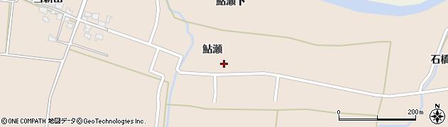 秋田県由利本荘市鮎瀬(鮎瀬)周辺の地図